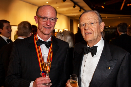 Australian Chapter Grand Maître Simon Clatworthy with Commandeur Hugh Morgan AC